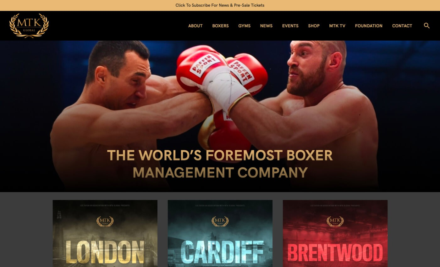 Desktop view of the new MTK Global Website
