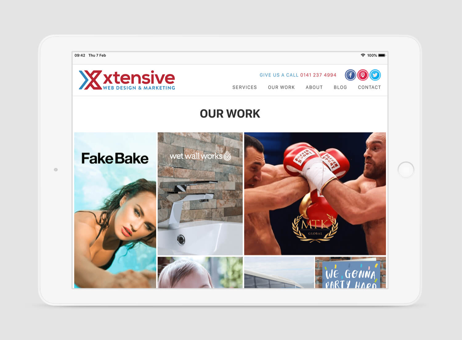 image of the new Xtensive website on an iPad