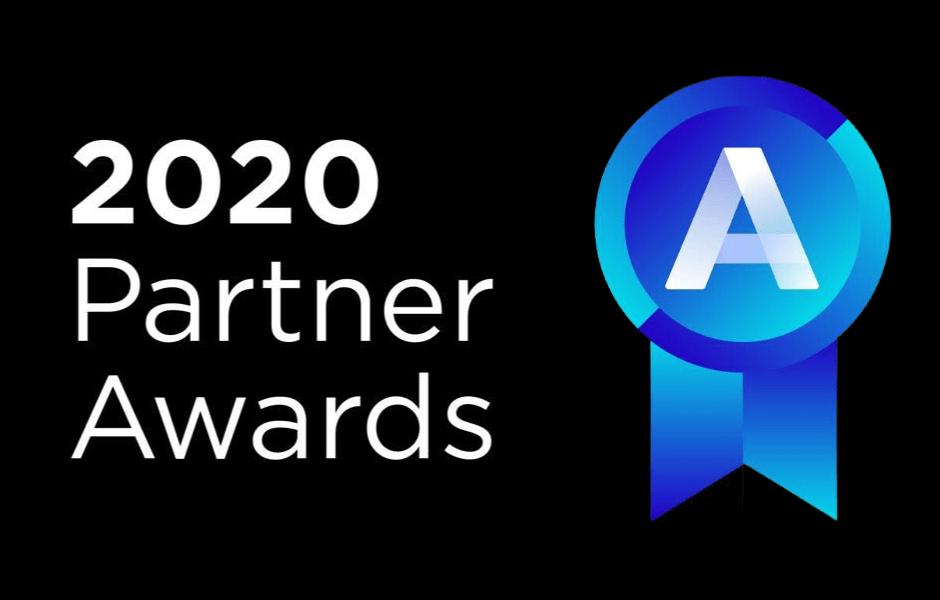 Blog Featured Image: 2020 BigCommerce Partner Awards with black background